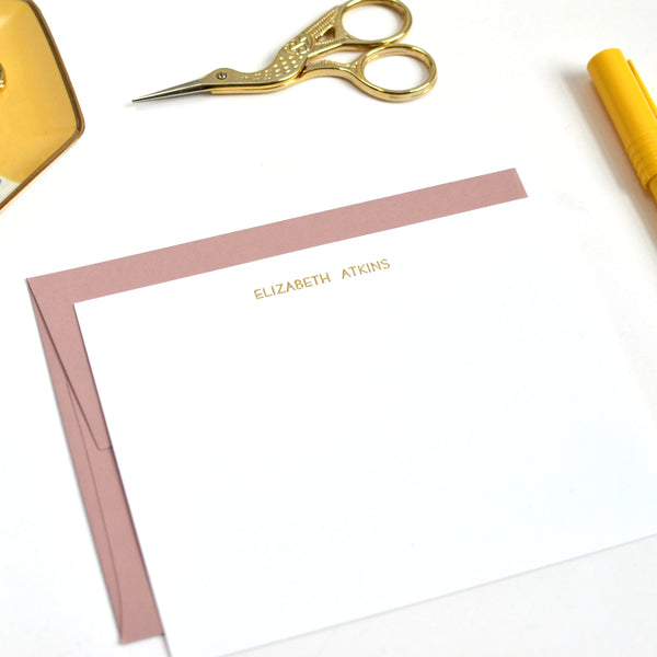 Foil Stamped Stationery