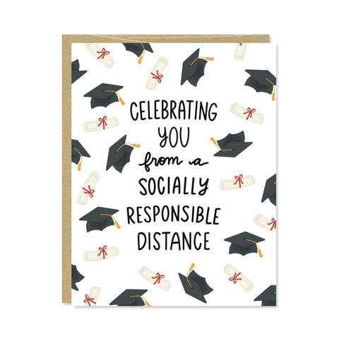 Social Distance Graduation Card