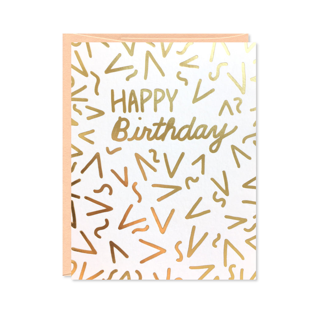 Gold Foil Confetti Birthday Card