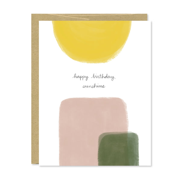 Happy Birthday Sunshine Foil Card