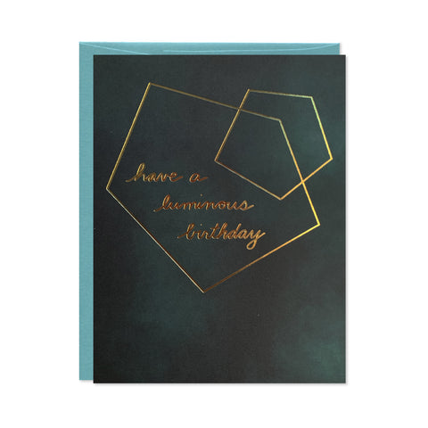 Luminous Birthday Gold Foil Card