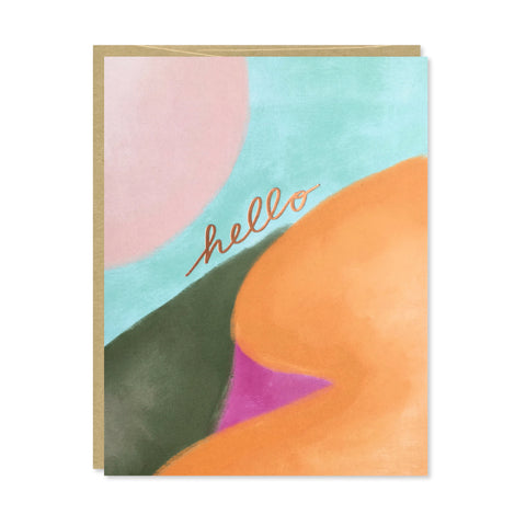 Hello Copper Foil Card
