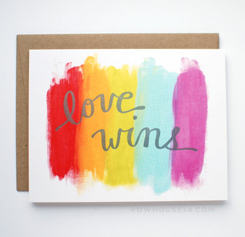 Love Wins Letterpress Card