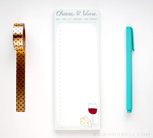 Cheese and Wine Notepad