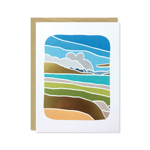 Lake Tekapo Gold Foil Card