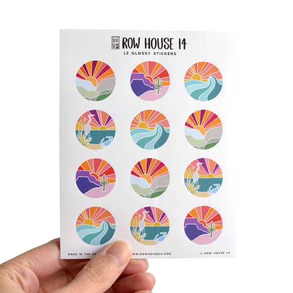 Sunsets Glossy Sticker Sheet