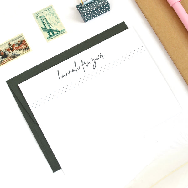 Modern Script Stationery Set
