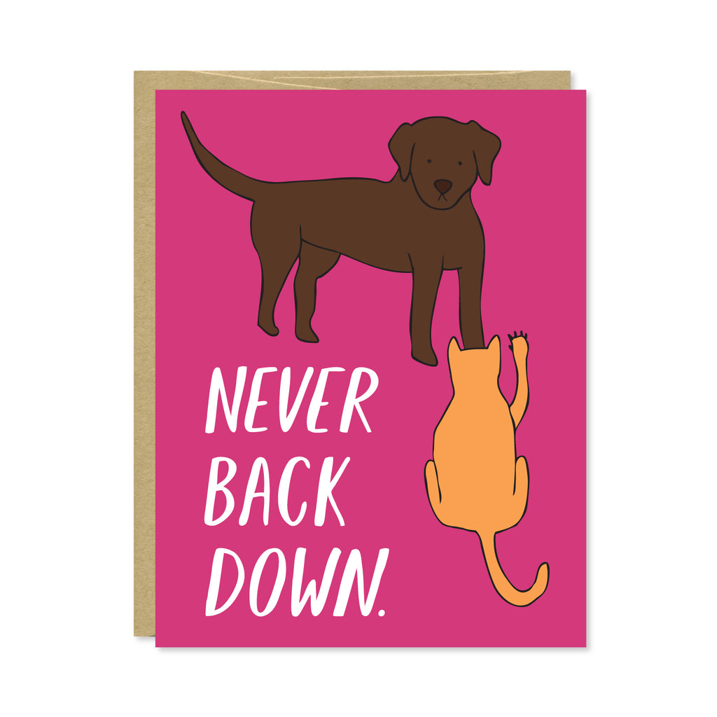 Never Back Down Card