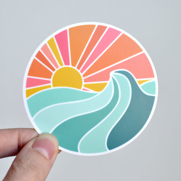 Ocean Sunset Sticker