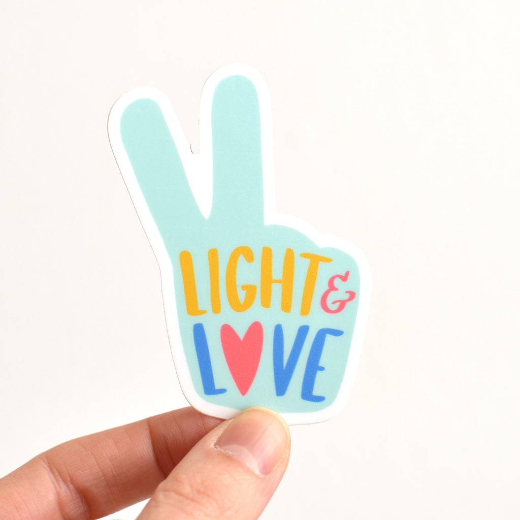 Peace, Light, and Love Sticker