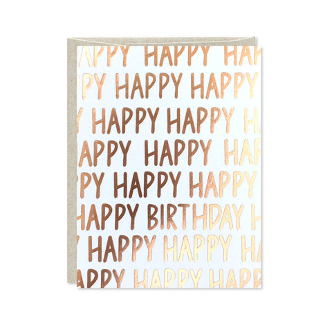 Rose Gold Foil Birthday Card