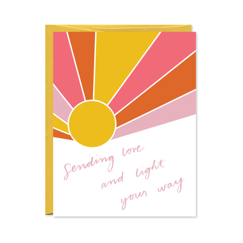 Sending Love and Light Card