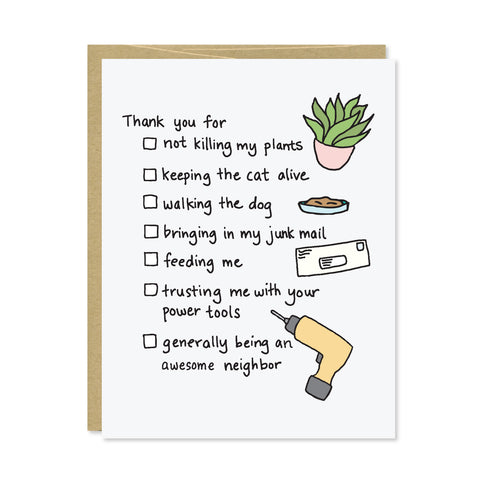 Neighbor Thank You Card