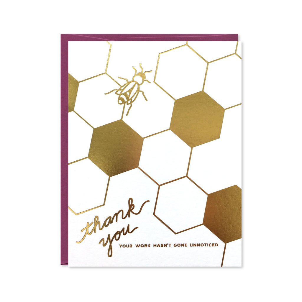 Worker Bee Gold Foil Card