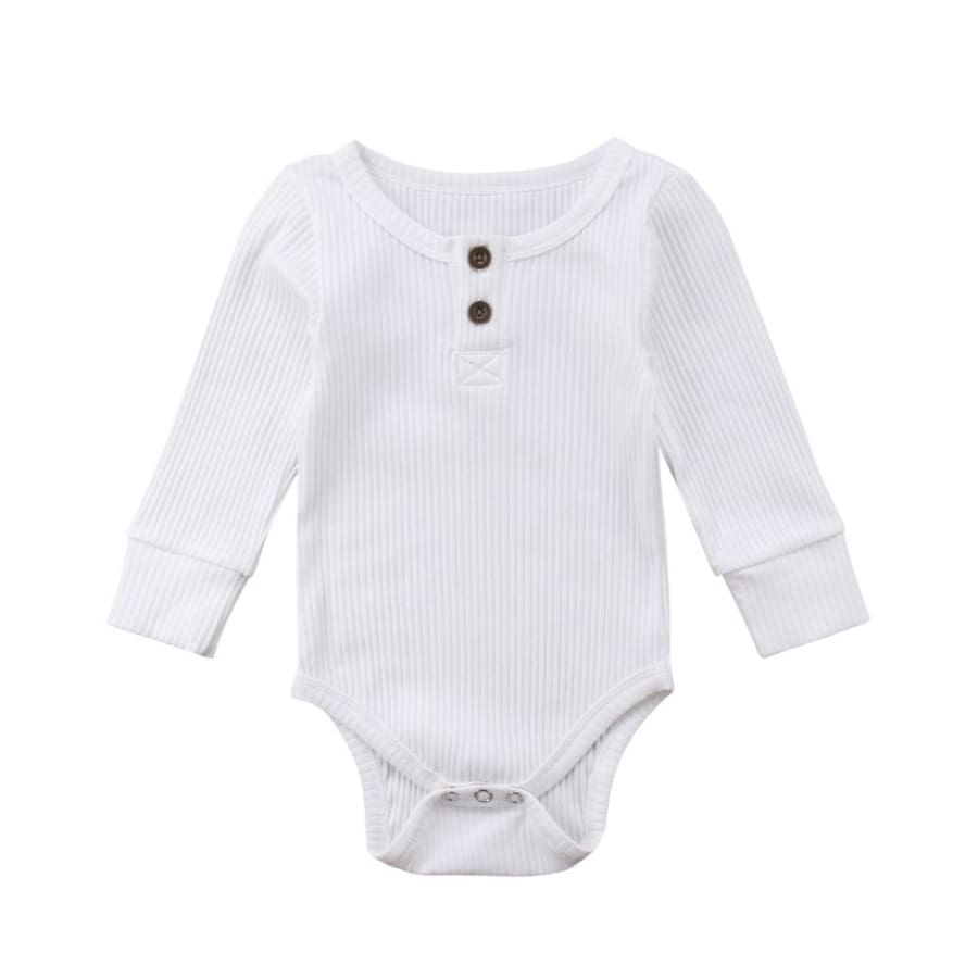 0-24 M Basic Long Sleeve Cotton Romper Bodysuit