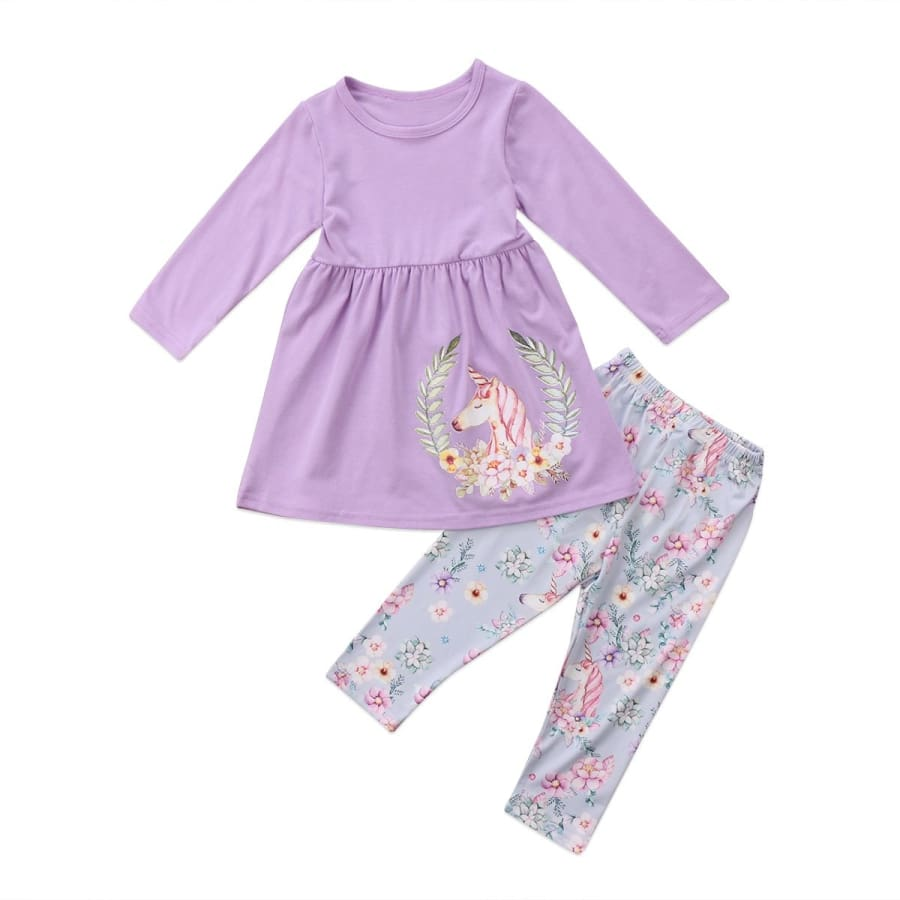 2 Piece Dreamy Lilac Unicorn Set