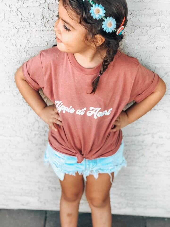 Hippie at Heart Custom Kids Toddler Tee - Pre Order Bella and Canvas