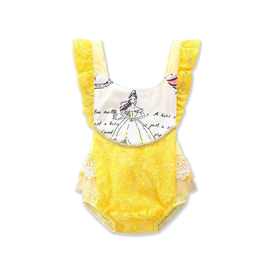 Belle Princess Elegant Lace Romper - Disney