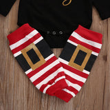 Black Long Sleeve Santa Baby 3 Pc Set