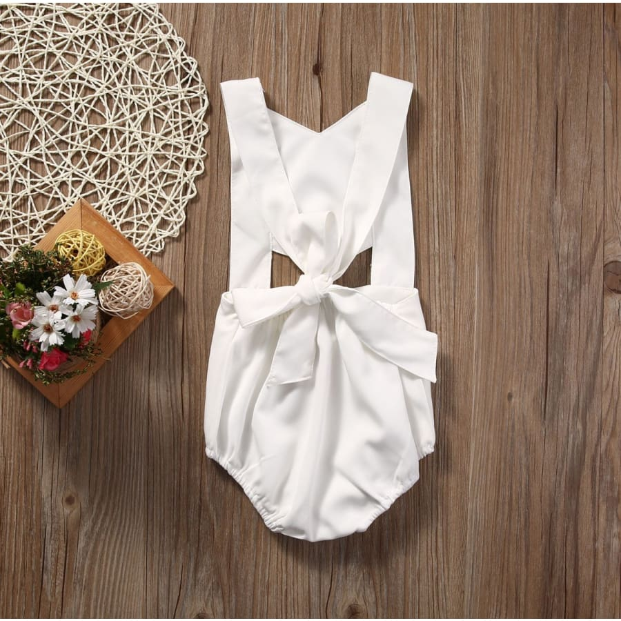 Brielle Cross Back Romper - Romper