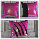 Double Color Sequin Pillow Cases - Pink & Black