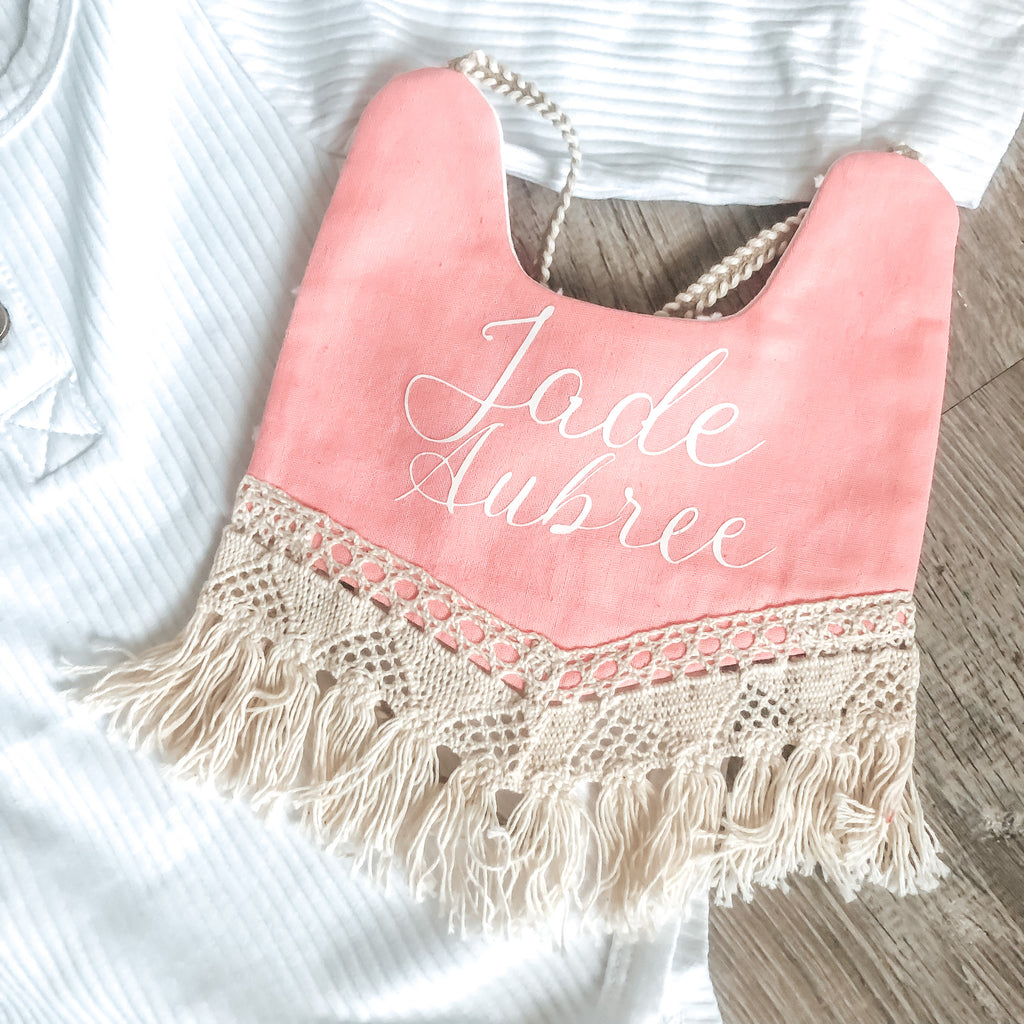 Custom personalized Boho baby bibs - Baby shower Gift Ideas