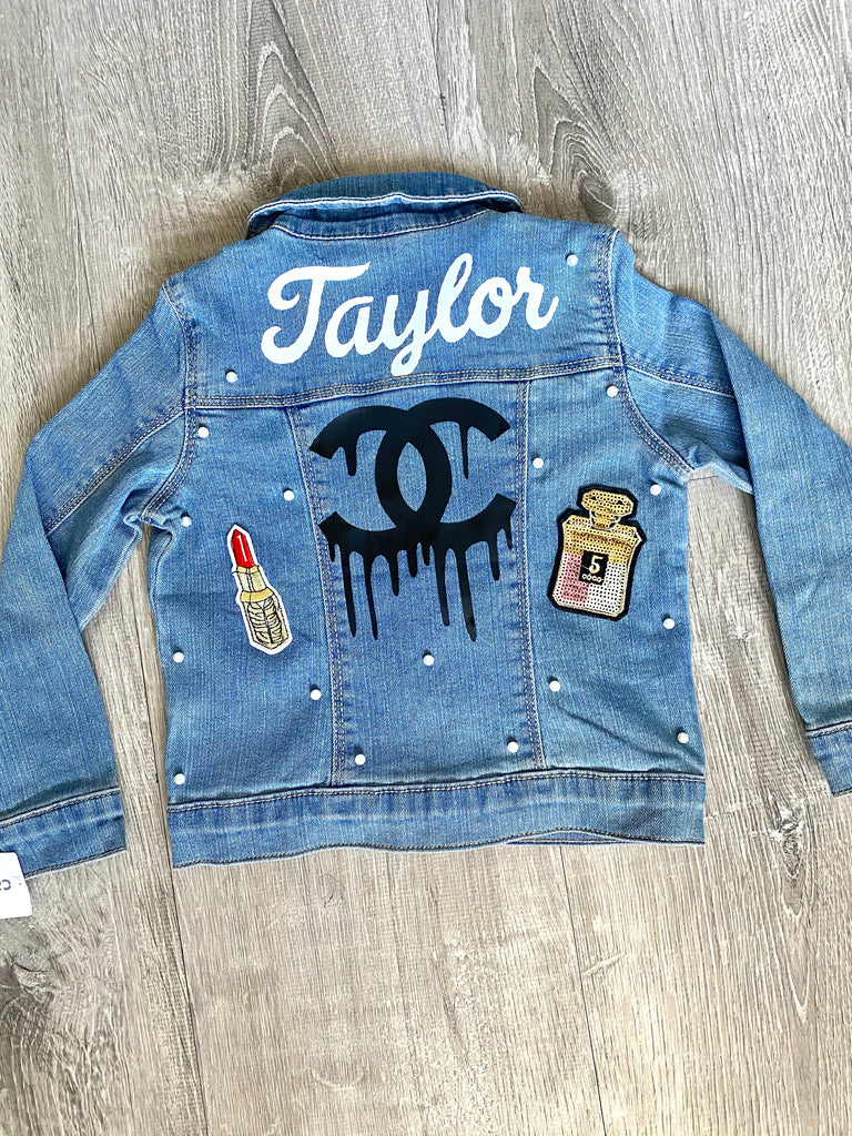 Adult Custom Personalized Denim Jean Jackets for Bridal Brides & Bridesmaids Gift Ideas
