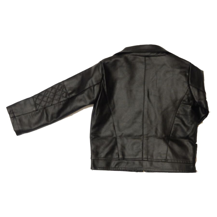 Kids Unisex Leather Jacket
