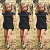 Little Black Romper - Rompers