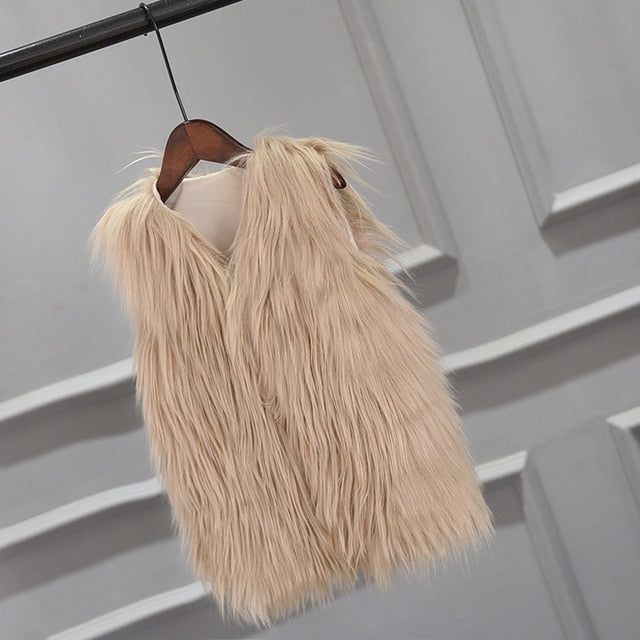 Faux Fur Girls Vest