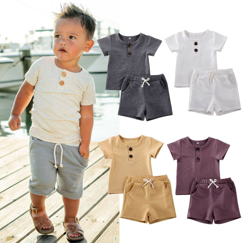 Cole Solid Summer Button Sets