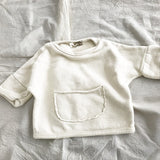 Pocket Cotton Solid Pullover Sweaters