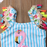 Colorful Flamingo One Piece Swimsuit