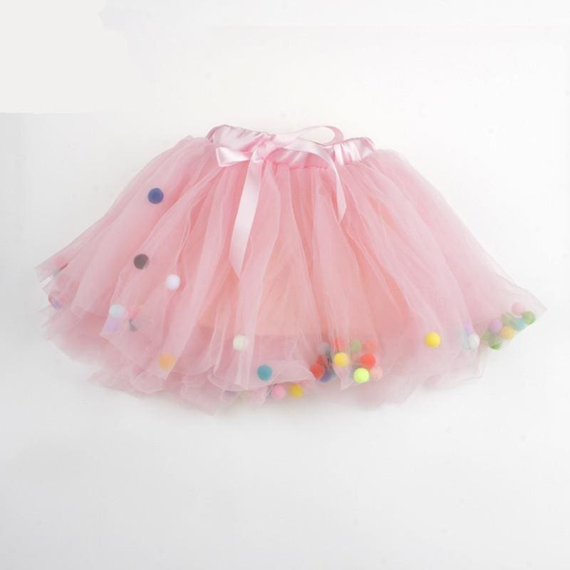 Tutu Girls Party Skirt - Pink / 3T - Skirt