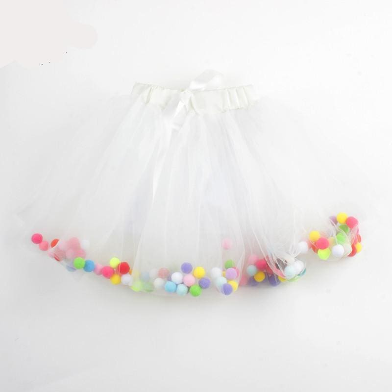 Tutu Girls Party Skirt - White / 3T - Skirt