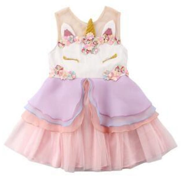 Unicorn Princess Party Dress - Pink / 12-18M