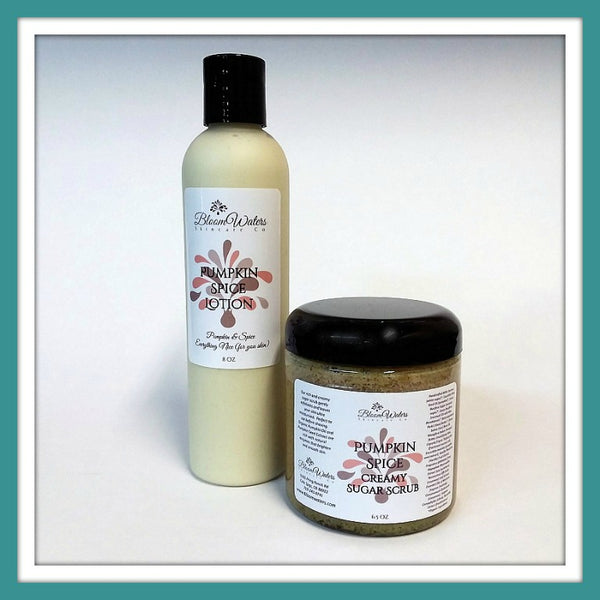 Bloom Package Pumpkin Spice Lotion & Creamy Sugar Scrub