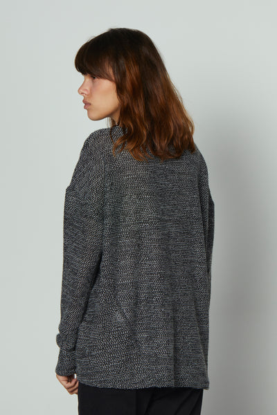 Oversized knit grey melange