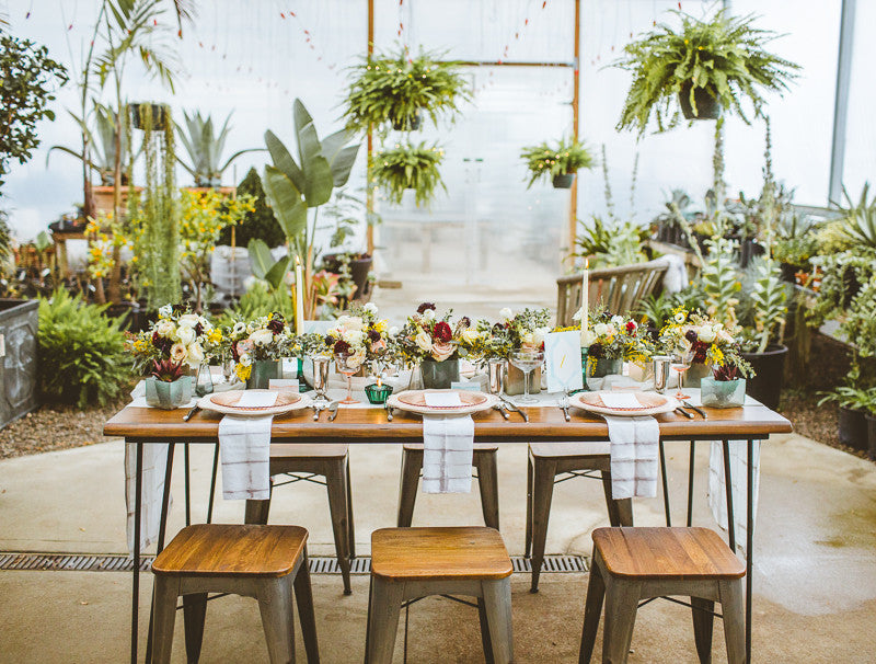 Earthy Greenhouse Wedding Inspiration