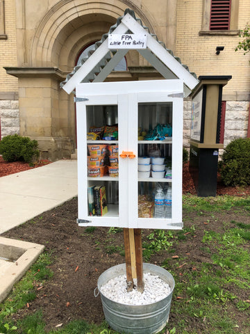 Franklinton High School, Little Free Pantry built by The Lesser Bear
