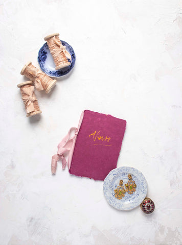 Blush Silk Twine by The Lesser Bear Vow Book and Silk Ribbon