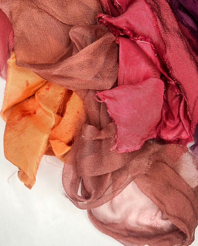 Fall Silk Ribbon Colors by The Lesser Bear