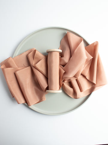 Fawn Terra Cotta Naturally Dyed Silk Ribbon by The Lesser Bear