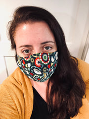 Kate from The Lesser Bear wearing a non medical mask