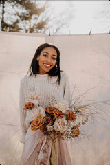 Fall Micro Wedding Shoot with Roses and Dried Florals by Bear Roots Floral, Grace E. Jones and The Lesser Bear