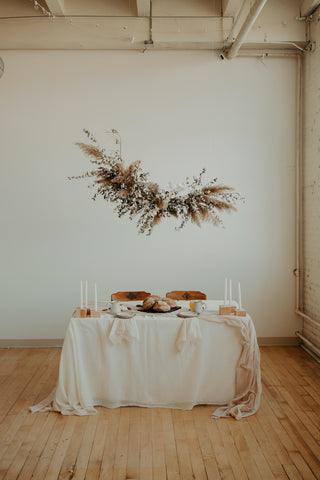 Naturally Dyed Table Linens by The Lesser Bear Photo Adrienne Gerber Florals Rachel Forrer
