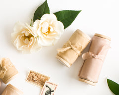 Silk Ribbon Spools by The Lesser Bear Styled by Auburn and Ivory and Photographed by Maria Siriano