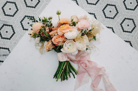 Layer Silk Ribbon by The Lesser Bear, Bouquet by Bear Roots and Photo by Derks Works