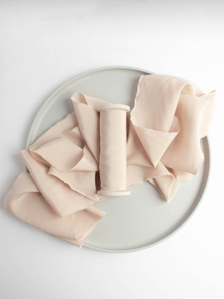 Champagne Silk Ribbon in Crepe de Chine from The Lesser Bear