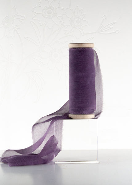 Dark Violet Gauze Silk Ribbon from The Lesser Bear